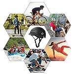 XJD-Casco-da-Bici-per-Adulti-Unisex-con-Luce-Posteriore-a-LED-Casco-Multisport-Regolabile-Leggero-per-Skateboard-Scooter-Ciclismo-Calotta-Interna-in-EPS-Certificato-CE