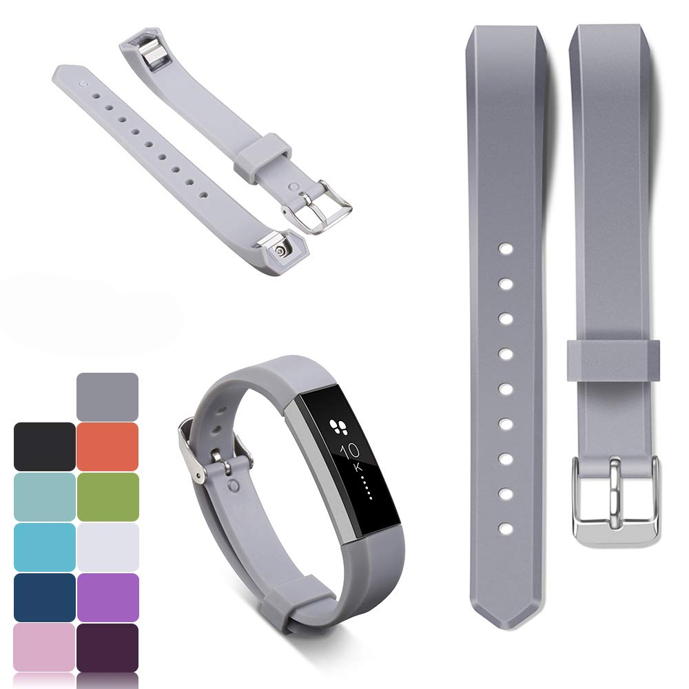 iFeeker - Correa para pulsera Fitbit Alta y Alta HR, incluye protectores HD, silicona suave, ajustable, con hebilla de metal, de diseñ o, 11 colores diferentes, color blanco de diseño 11colores diferentes F-AltaWB-042