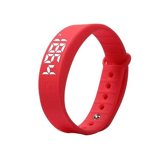 Elegante reloj de pulsera de, Vigilancia de la salud Cuentapasos 3d Moda Impermeable Pulsera-C: Amazon.es: Relojes