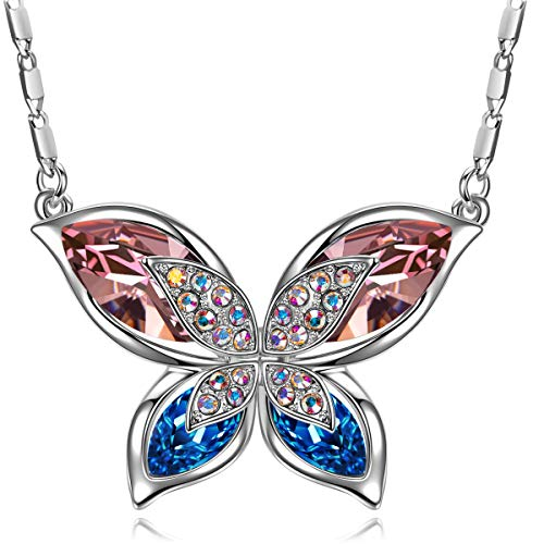 (SIVERY Christmas Day Gifts for Her 'Butterfly' Women Necklace Jewelry with New Crystals from Swarovski, Gifts for Girlfriend and Mom (Special Butterfly))