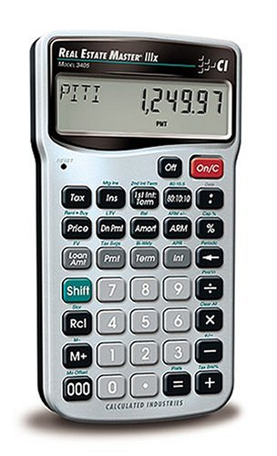Calculated Industries 3405 Real Estate Master IIIX Real Estate Finance Calculator (Estate Business)