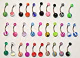 Best Zaya Body Jewelry Belly Button Rings - 30pc 14g gauge 3/8 16mm Belly Rings Navel Review