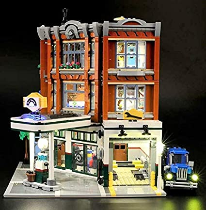 LED Beleuchtungsset für Lego® 10264 corner garage by Ledako Led