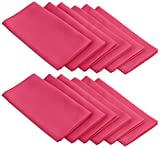 LinenTablecloth 17-Inch Polyester Napkins (1-Dozen) Fuchsia