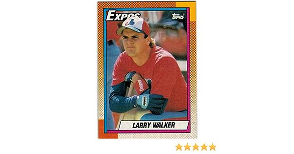 1990 Upper Deck Larry Walker Rookie Card #466 Rockies Hall of Fame Expos Cardinals NrMt to Mint