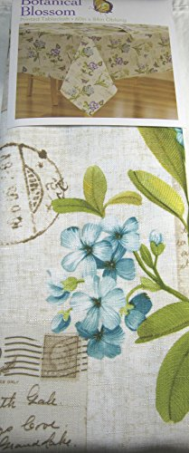 Botanical Blossom Printed Tablecloths Assorted Sizes Sq., Oblong and Round 100% Polyester (70 Round)