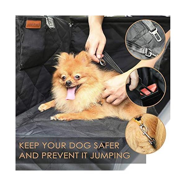 518C8CGDShL Looxmeer Hunde Autositz für Kleine Mittlere Hunde, Hundesitz Auto Autositzbezug mit Sicherheitsgurt und Verstärkter…