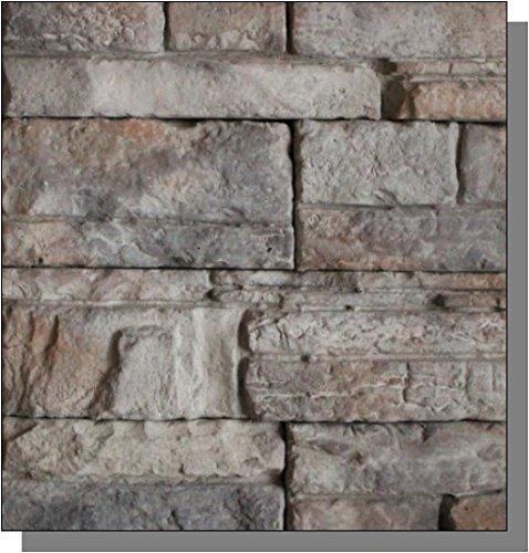 100 Sq Ft Stone Veneer Contractor Pack  Quickfit Ledgestone Copper Creek