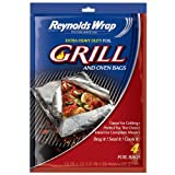 reynolds hot bags - Reynolds Wrap Extra Heavy Duty Foil Grill & Oven Bags, 4 Count by Reynolds
