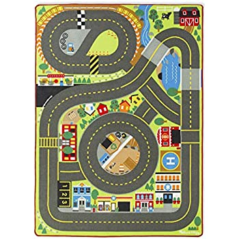 Amazon Com Schylling Hot Wheels Playmat Rug With Hot Wheels Vehicle