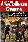 Les nouvelles affaires criminelles de Charente par Gonthier