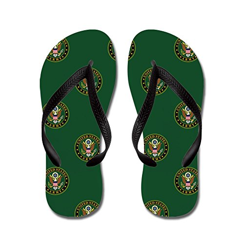 CafePress U.S. Army: Army Symbol (Green) - Flip Flops, Funny Thong Sandals, Beach Sandals Black