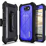 Samsung Galaxy J7 2017 / J7 Sky Pro / J7 Prime / J7 V 2017/ J7 Perx Case, COVRWARE [Ranger Pro] Built-in [Screen Protector] Full Body Rugged Holster Armor Case [Belt Swivel Clip][Kickstand], Blue