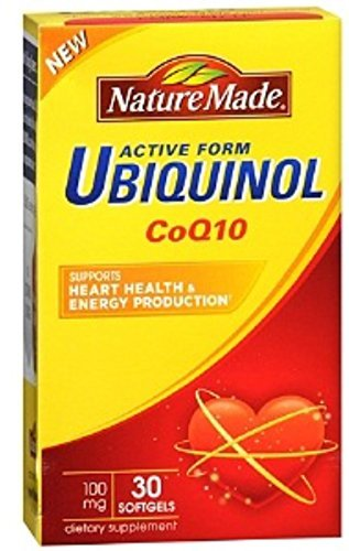 Nature Made Ubiquinol CoQ10 100 mg, Softgels 30 ea (Pack of 2)