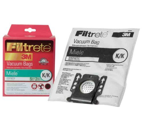 7 X Filtrete Miele K/K Synthetic Bags and Filters, 5 Bags and 2 Filters