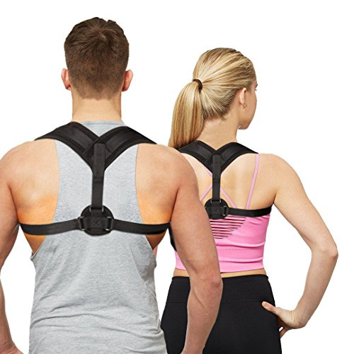 Posture Corrector for Women Men, Simwell Adjustable Clavicle Brace Effective and Comfortable Back Support for Slouching & Hunching, Shoulder Support for Upper Back & Neck Pain Relief