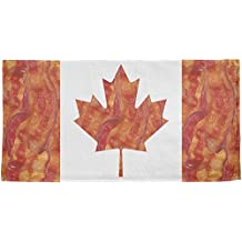 Canadian Bacon Flag All Over Beach Towel Multi Standard One Size