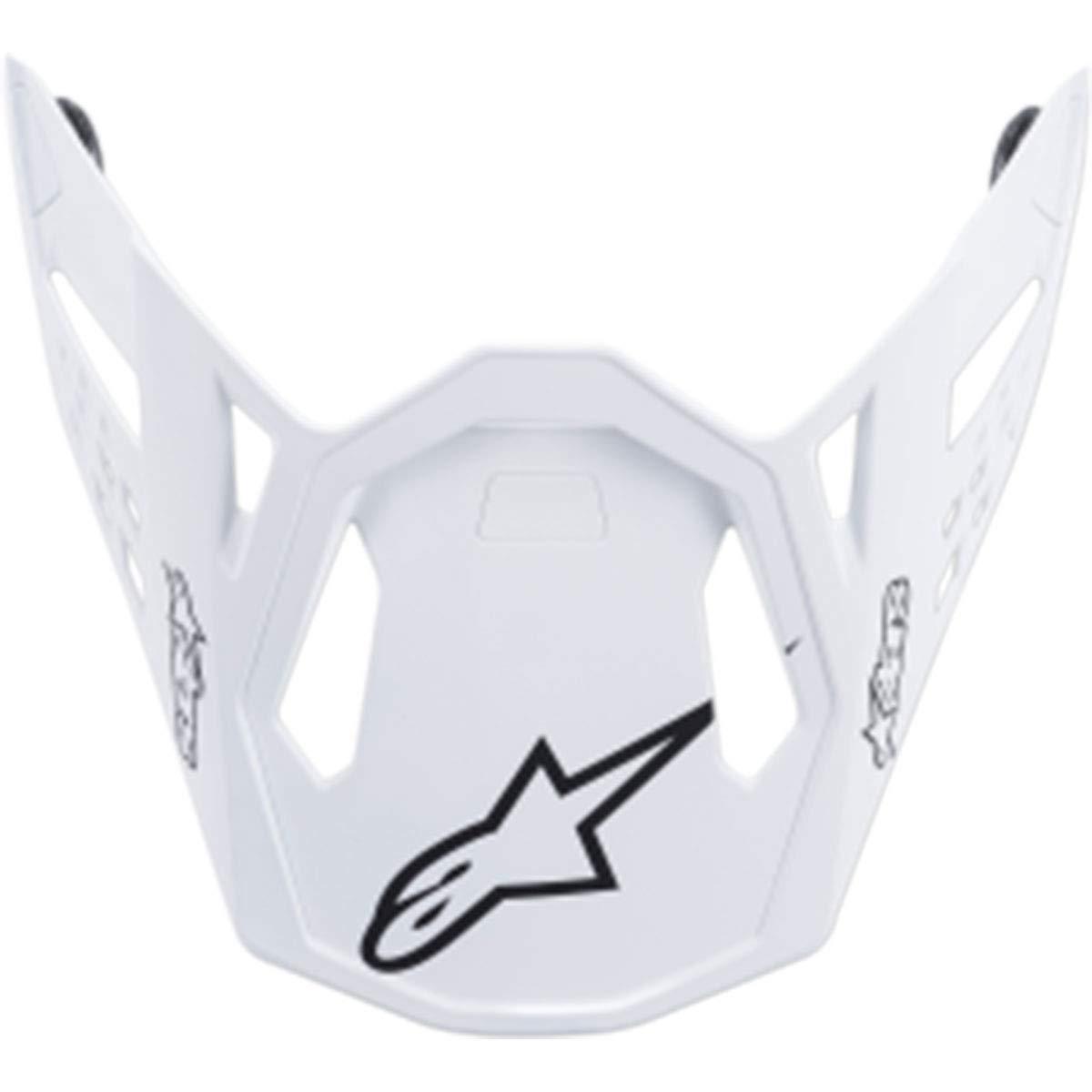 Alpinestars Supertech M10 Dyno Visor Off-Road Motorcycle Helmet Accessories - Matte White/One Size