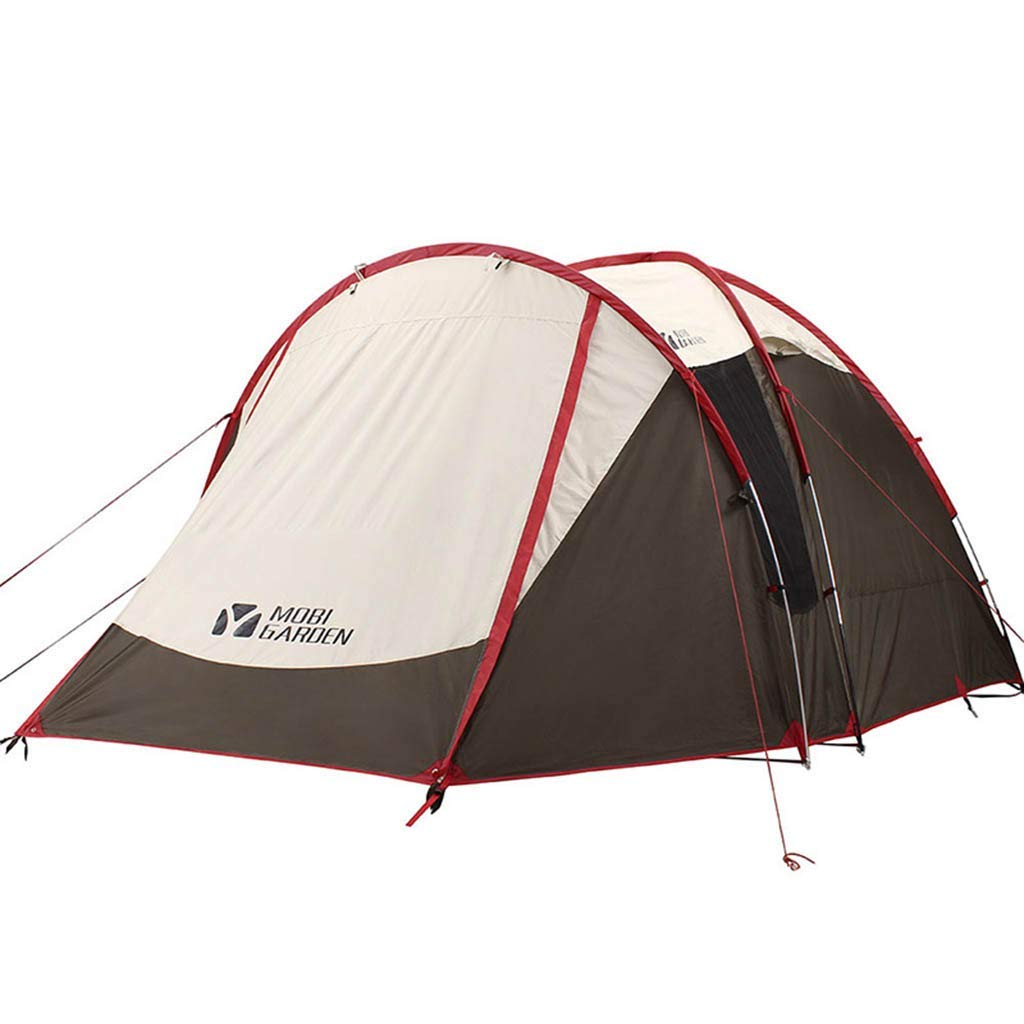 Outdoor Camping Tent, Double Decker for 4 People, Rainproof Sunscreen Waterproof, Suitable for Picnic Beach Park Lawn Field Mountaineering Hiking Tour
