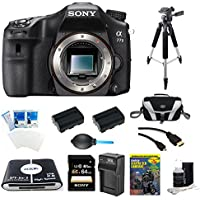 Sony A77II ILC-A77M2 A77M2 a77 II Digital SLR Camera - Body Only Bundle Includes camera, 64GB SDXC Memory Card, 2 NP-FM500 Camera Batteries, Rapid AC/DC Charger, Compact Bag, 57-in-1 Memory Card Reader, Photography DVD, micro-HDMI Cable, and More At A Glance Review Image