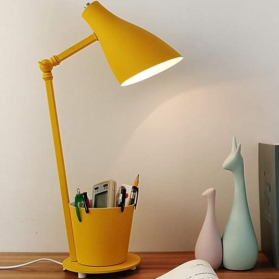Amazon.com: Dkdnjsk - Lámpara de mesa de hierro forjado con ...