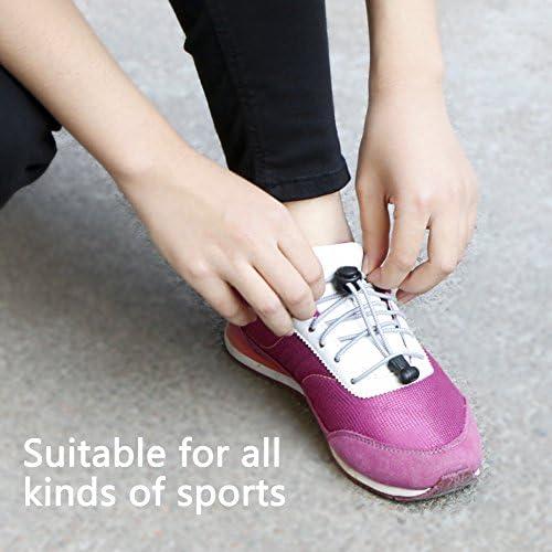 Adultes Coureurs Personnes /âg/ées D/ésactiv/é,Marathon,Triathlon Noir et Gris 6 Paires Sport Lacets Rapides pour Enfants Kany Lacets /Élastiques Autobloquants