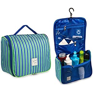Toiletry Bag Hanging Cosmetic Bag Toiletry Kit - Large Travel Bag for Women, Girls - Lightweight Durable & Stylish with Multiple Compartments and Hanging Hook