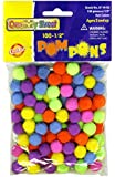Creativity Street Hot Colors Pom Pons, 0.5-Inch, 100-Pack (AC8114-02)