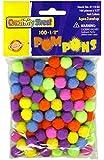 "Creativity Street Pom Pons 100-Piece X 1/2"" Hot Assorted Colors"