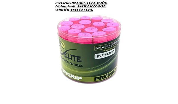 overgrips Pro Elite Premium Perforados Rosas Flúor. Bote de 60 ...