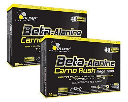 Olimp Beta-Alanin Carno Rush 160 Tabletten, 2er Pack á 80 Tabs. (2 x 142,4g)