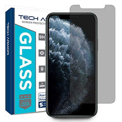 Tech Armor Privacy Ballistic Glass Screen Protector for New Apple iPhone 11 Pro/iPhone X/iPhone Xs [1-Pack] Case-Friendly, Scratch Resistant 3D Touch Accurate Designed for 2019 Apple iPhone 11 Pro