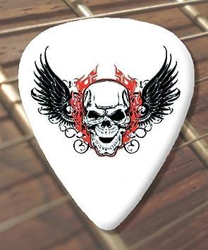 10 x de tatuaje de selecciones de la guitarra del cráneo (D6 ...