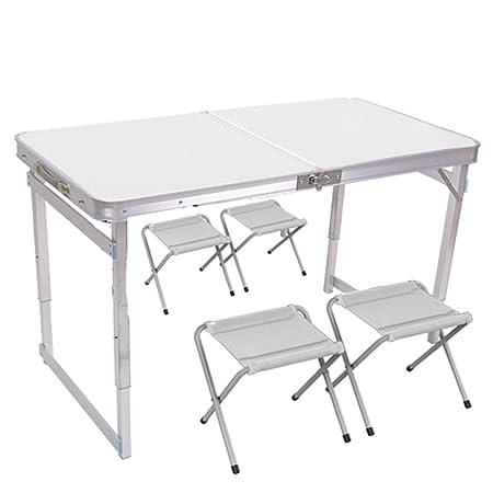 Mesa HUO Puesto Plegable Aire Libre sillas Plegables hogar Simple ...