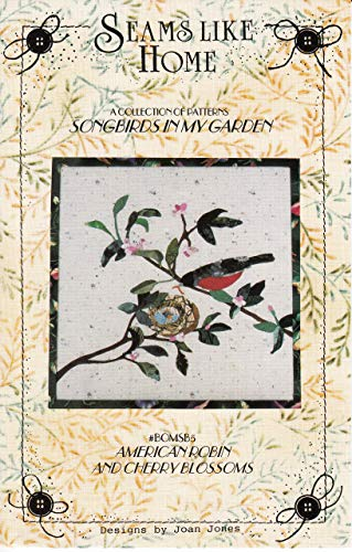 Songbirds in My Garden Applique Pattern Collection, All 12 Patterns