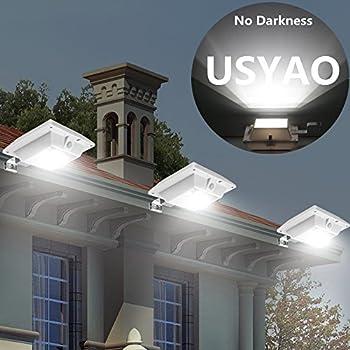 super bright usyao solar super bright pir motion sensor waterproof wireless security light lamp