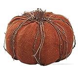Large Burlap Pumpkin Sculptures Terracotta Color Fall Decor