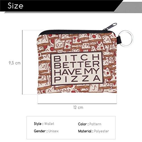 Sacchetto Piazza Better Kukubird Borsa up Gatti Cani Pizza Cosmetici Portafoglio Pencilcase Borsa Make Toilette Emoji Unicorn Organizzatore Have ZHZzwOxB