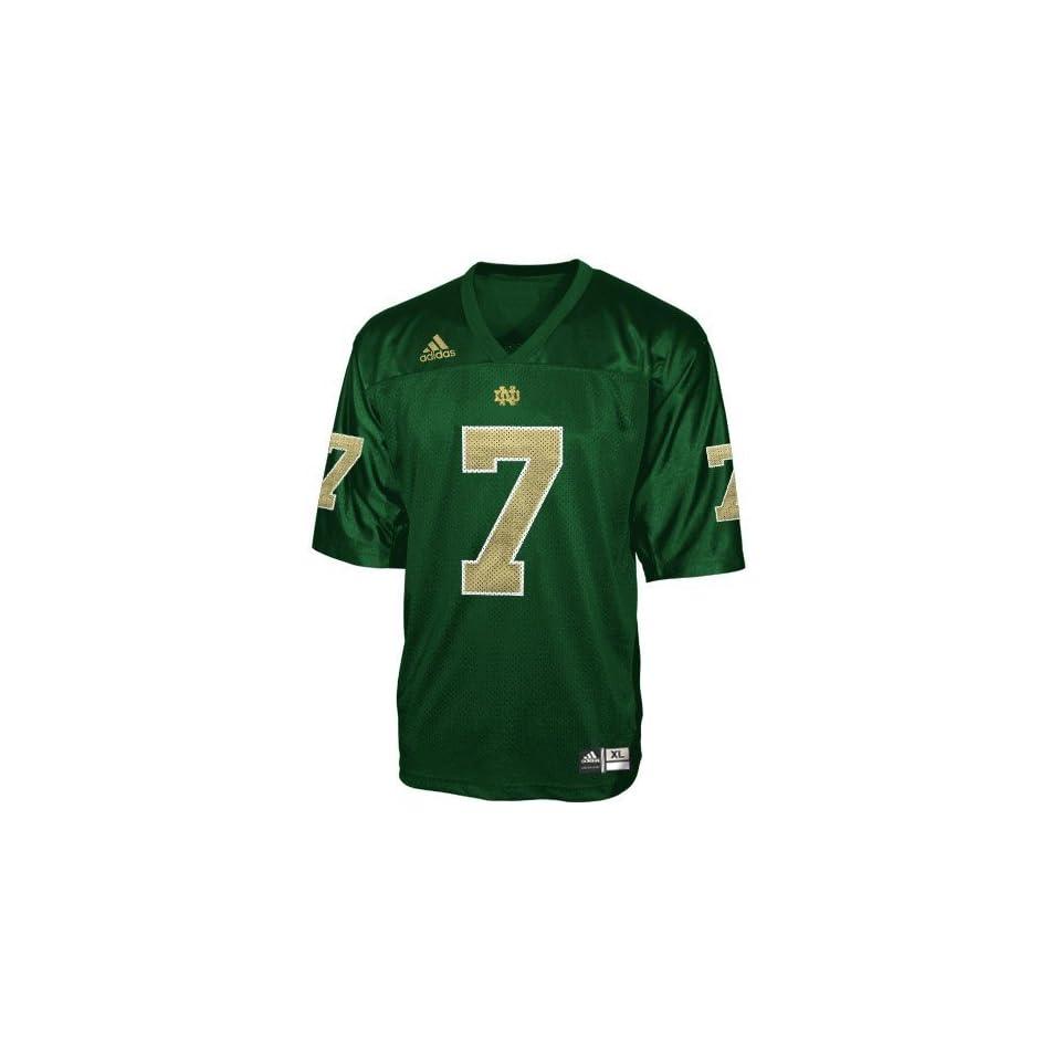 adidas Notre Dame Fighting Irish #7 Green Youth Replica Football Jersey