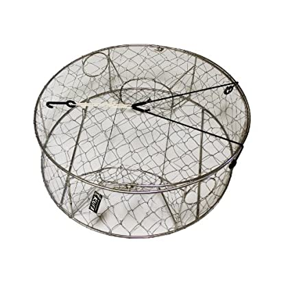 Image of KUFA Stainless steel wire crab trap (ø30'x10') CT100 Bait Traps