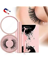 Magnetic Eyelashes, Magnetic Eyeliner With 3D Magnetic False Eyelashes Reusable Fake Eye Lashes