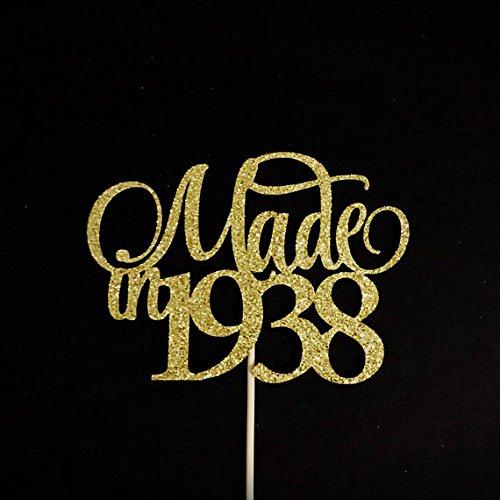 Made In 1938 Cake Topper Birthday Birth Year 80th