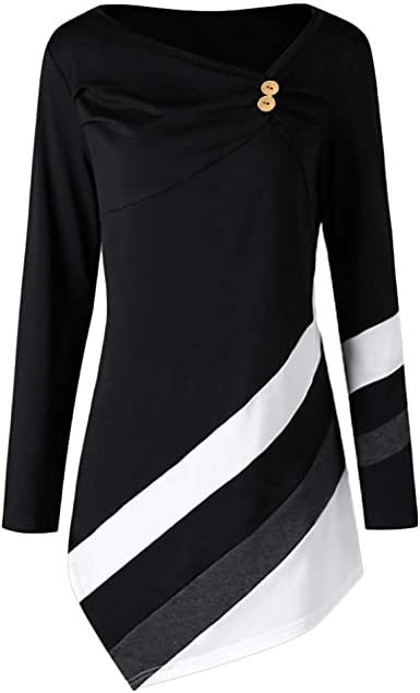 Womens Strappy Long Sleeve Cowl Neck Casual T-Shirt Plus Sise Sweatshirt Blouse Tunic Tops