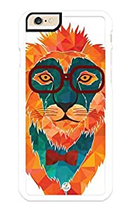 iZERCASE iPhone 6 PLUS Case Hipster Cool Lion RUBBER CASE - Fits iPhone 6 PLUS T-Mobile, Verizon, AT&T, Sprint and International