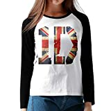 one direction baseball tee - Ilongquan Women's One Direction Loog Sleeve Baseball Tee Raglan T-Shirts Black XL