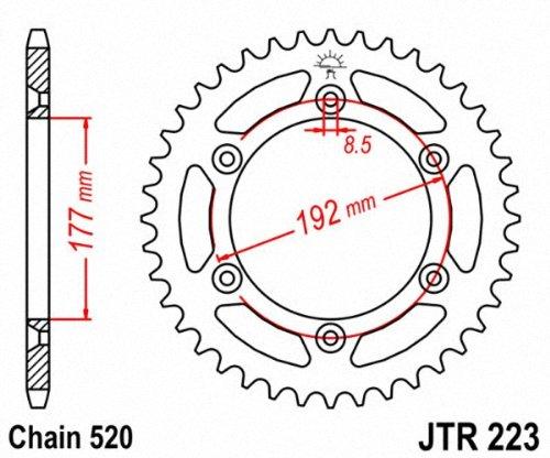 JT Sprockets JTR223.53 53T Steel Rear Sprocket by JT Sprockets (Image #1)