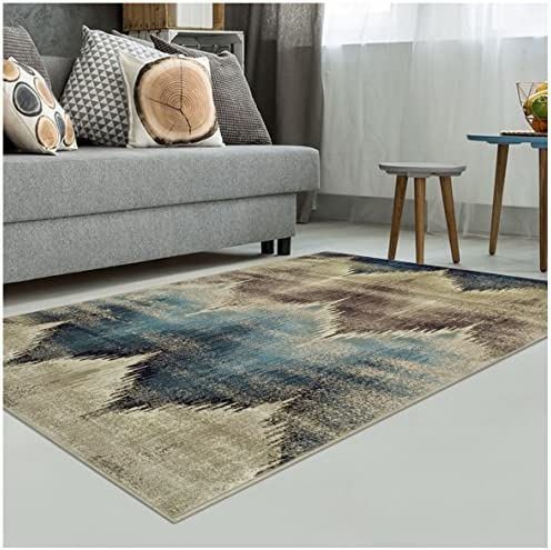 Superior Area Rug 2 x 3 10mm Pile Height with Jute Backing, Woven Fashionable and Affordable Cadwell Collection, Beige