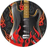 """Amscan Rock On Heavy Metal Party Plates (8 Piece), Multi Color, 7 x 7"""""""