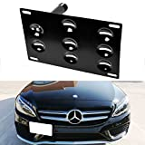 iJDMTOY Front Bumper Tow Hole Adapter License Plate Mounting Bracket For Mercedes W205 C-Class X204 GLK-Class, X205 GLC-Class