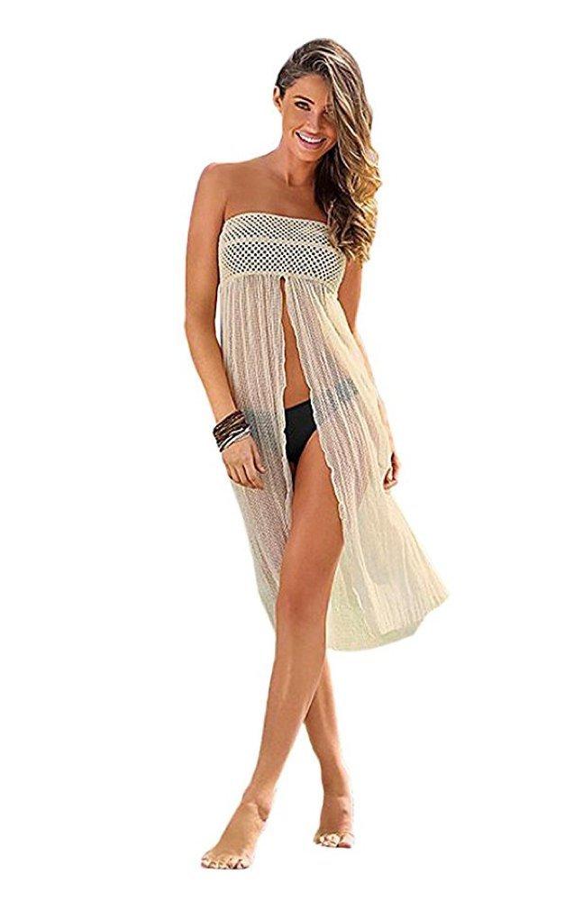 Tuvana Beach Kaftan Swimsuit Swimwear Bikini Cover up Crochet Dress and Skirt Two Styles in One